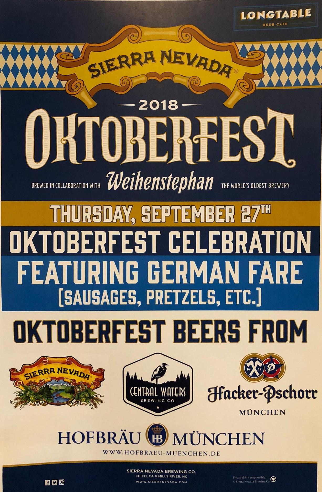 Oktoberfest at Longtable