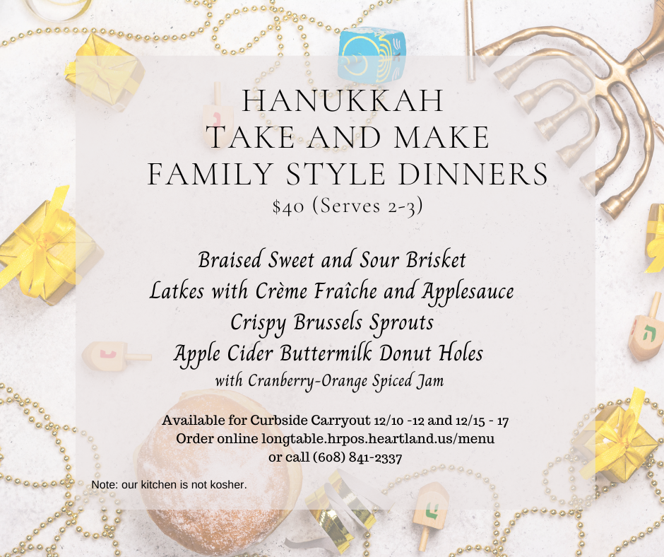 Hanukkah Take and Make Family Style Dinners